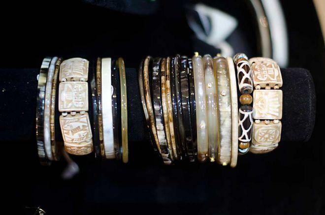 Horn jewellery - bracelets