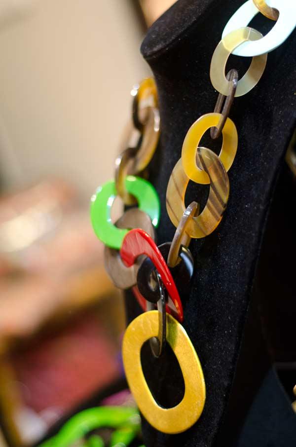 Horn Jewellery multi colour necklace