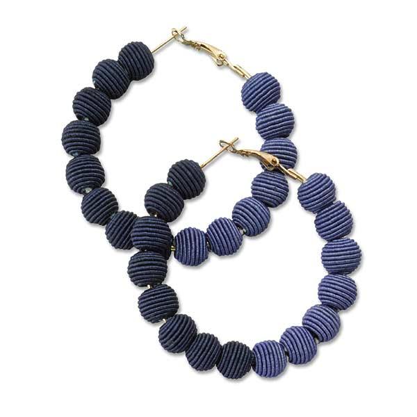 Narratives Two-tone Blue Earrings