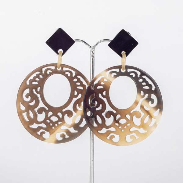 AW19-Jewellery-my-Doris-Horn-hand-carved-hoop-dark-earring