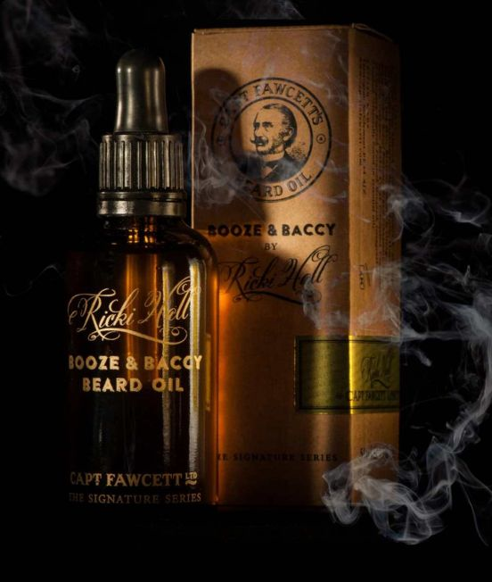 Abrahams Store stockist of Captain Fawcett Booze & Baccy Beard Oil 10ml