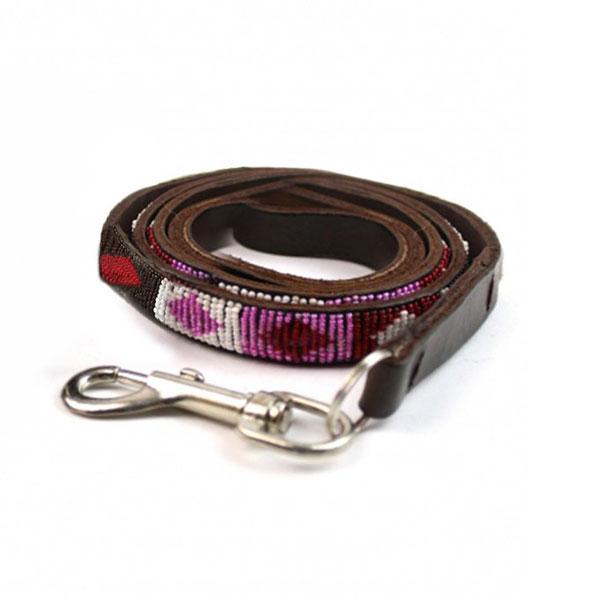 Beaded Aspiga diamond pink collar - Clasp