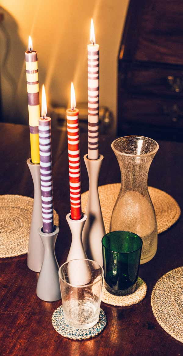 British Colour Standard Striped classic candles