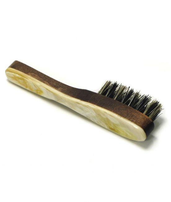 Abbeyhorn Oxhorn Beard Brush with handle