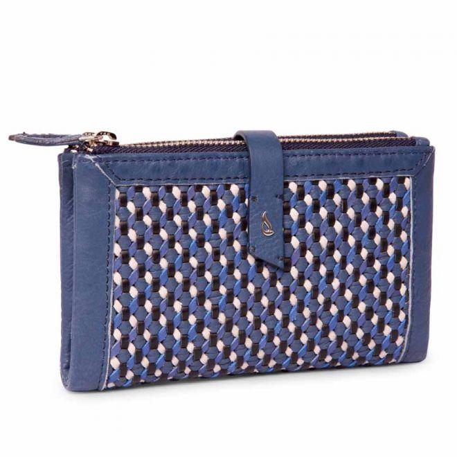 Abbacino blue woven wallet