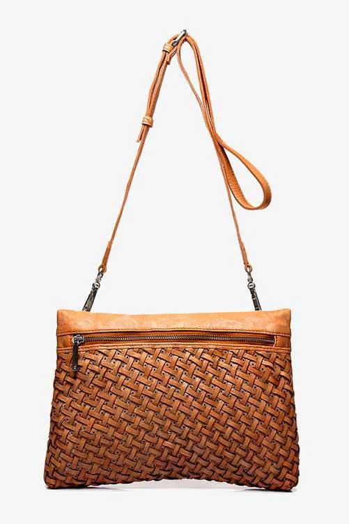 Abbacino cognac leather cross body bag