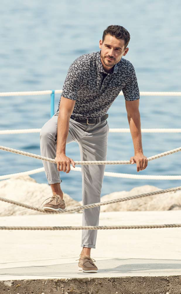 Brax Cotton Floral Polo shirt