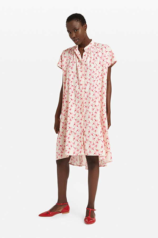 Ottod'Ame printed cotton chemisier dress