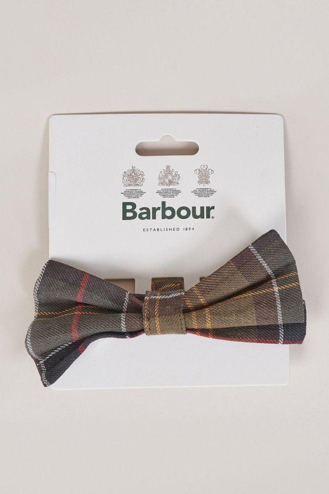 Barbour tartan dog bow tie