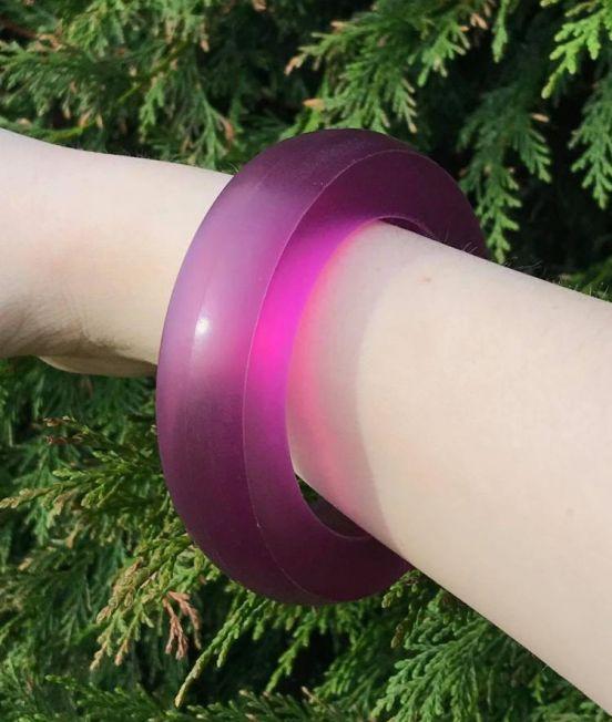 Duo Design Gel Bangle - Round - Pink - Mood