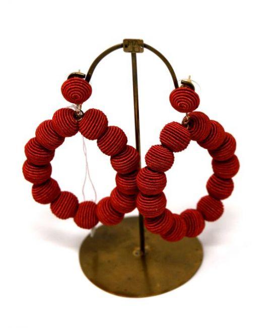 Arcana Red Heart Earrings
