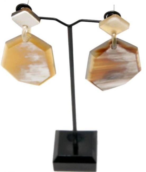 Capella Horn Heptagonal Earrings