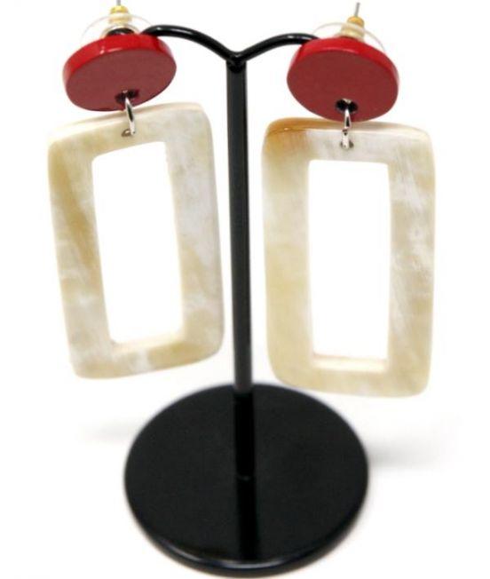 Rectangular Hoop Earrings