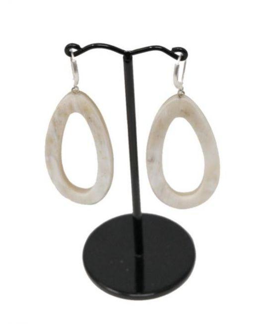 Spanish & Sisters Carved Droplet Earrings - Pale