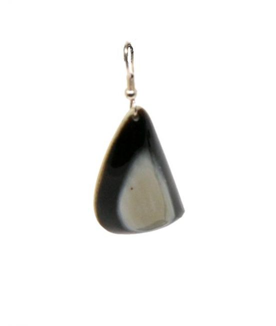 Ox Horn Earrings - Close up