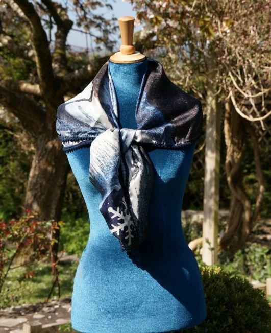 Arcana Shawl - Sleigh Silk - Mood