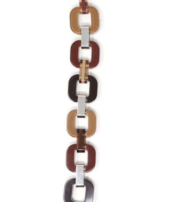 Xavier Derome Black and Browns reversible bracelet, showing one side when worn