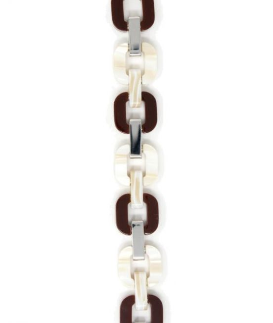 Xavier Derome Brown/Cream Reversible Bracele