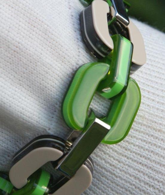 Xavier Derome Reversible Green and White Bracelet