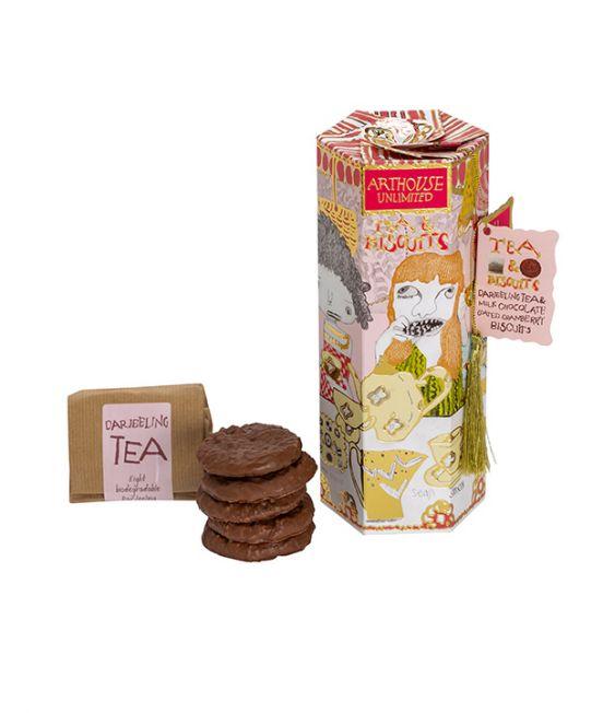 Arthouse Milk Chocolate and Cranbury Biscuts with Darjeeling Tea