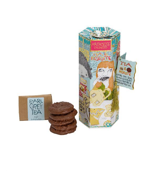 Arthouse Milk Chocolate & Orange Biscuts with Earl Grey Tea