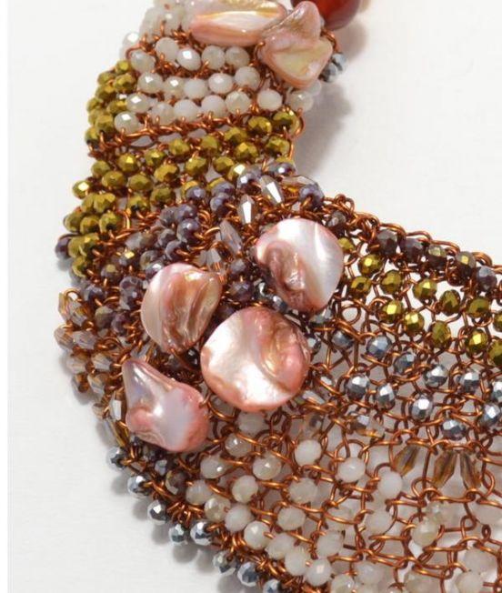 Palazzi Rita Statement Necklace - Close Up