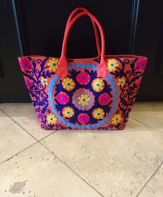 Brightly Coloured tote bag.