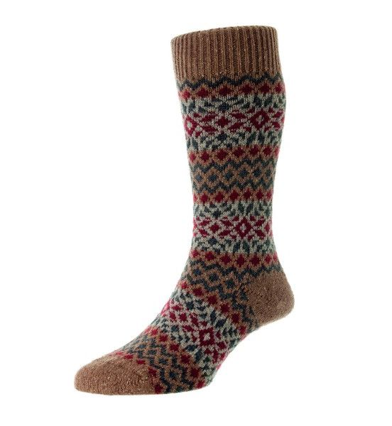 fellcroft fairisle boot socks