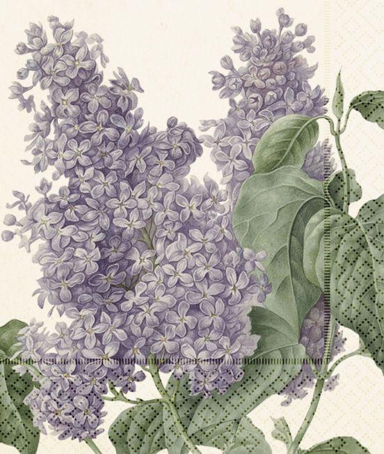 lilacs design paper napkins