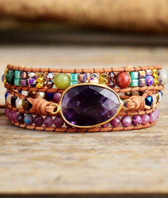 Inlaid Stone Bracelets