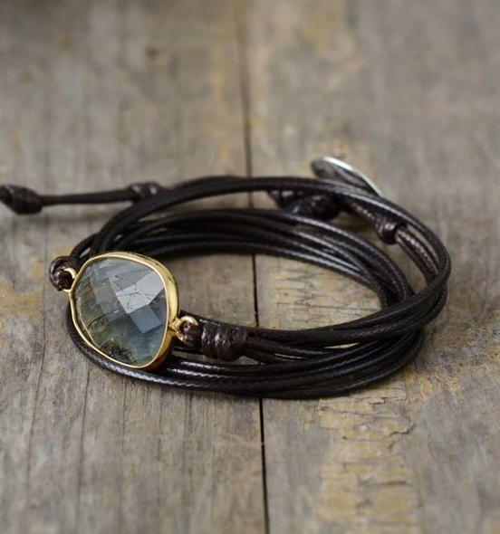 Mood shot of smokey quartz bracelent