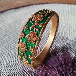 Gold and Green Enamel Baraclet