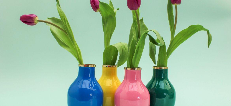 Small enamel vases